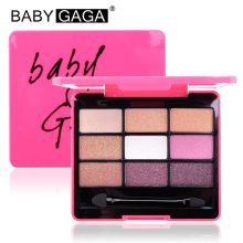 BABY GAGA 9 Colors Satin Eyeshadow Palette Makeup Eye Shadow Waterproof Eye Shadow Make Up Beauty Brand Maquillage Cosmetics