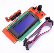 2004 LCD Display 3D Printer Controller With Adapter RAMPS 1.4 Reprap Mendel (20 characters x 4 lines) Free Shipping