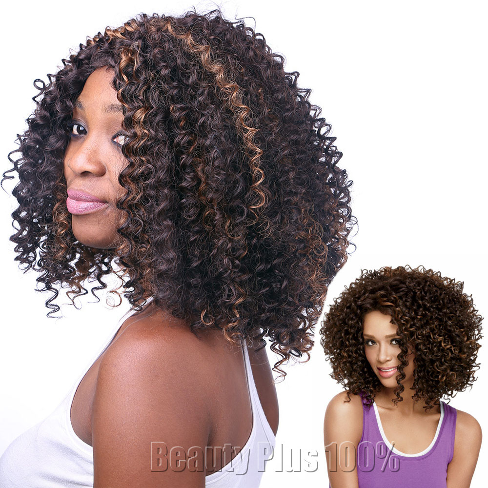Cheap Afro Kinky Curly Synthetic Wig African American Short Wigs for Black Women Synthetic Curly Wigs Heat Resistant Curly wig<br><br>Aliexpress