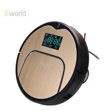 Eworld Mop Robot Vacuum Cleaner for Home, M883 Golden lid HEPA Filter Sensor Remote Control Self Charge ROBOT ASPIRADOR For Home(China)