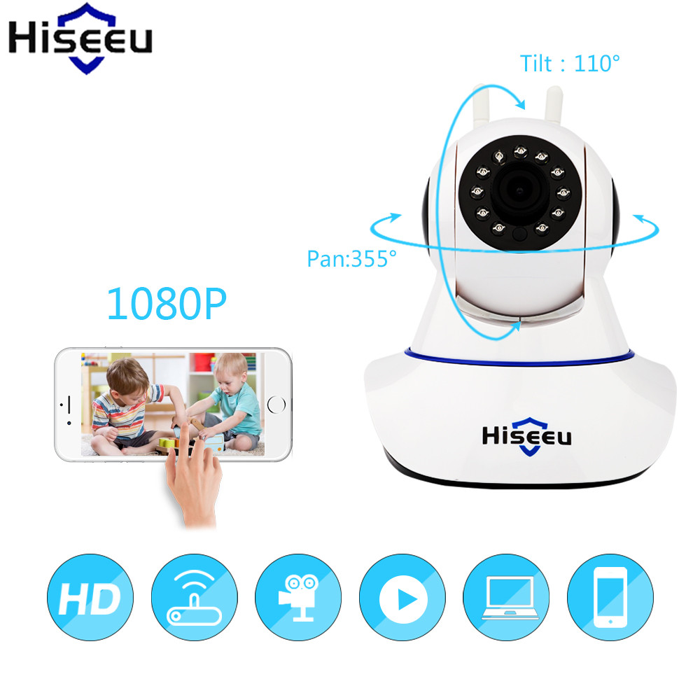Hiseeu Security Camera 1080P IP Camera Wireless Wifi Night Vision CCTV Camera Onvif Two-way Audio Baby Monitor Dropshipping<br>