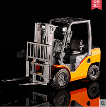 Forklift 1:20 KWD 620039 625039 alloy car model diecast Kaidiwei truck toy kids boy Trailer Warehouse transport truck lift gift