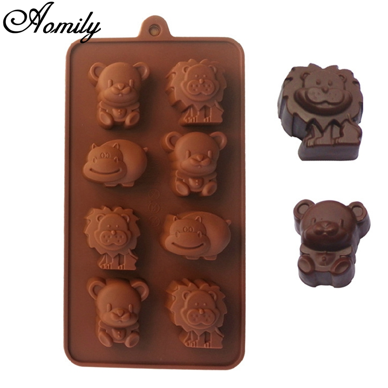 Animal Chocolate Candy Mold   Small  Tiger Hippo Elephant Bull Cow Camel Zoo