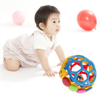 Babe Einstein Buzz Ball Bendy Baby Walker Rattles Prewalker Bouncing Ball Toddlers Fun Multicolor Activity Educational Toys(China)