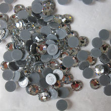 Hotfix flat back rhinestone round shape with glue ss20 crystal clear  1440pcs per pack 14 cutting high sparkly crystal free ship c693a679590d