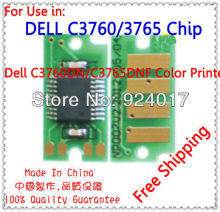 Refill Toner Chip For Dell C3760n C3760dn C3765dnf Printer,For Dell C3760 C3765 3760 3765 Toner Chip,For Dell Printer Toner Chip(China)