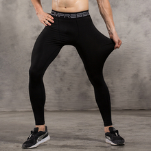 Vansydical Mens Compression Tights Skin Pants Running Jogging Jogger Fitness Exercise Gym Athletic long pant Spandex Quick Dry(China)