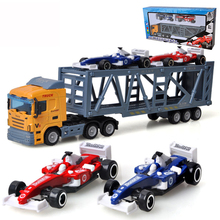 Classic toys Truck cars model toy Brinquedos Inertial car toys Transport vehicle Big trucks Toy for children juguetes Boy gift(China)