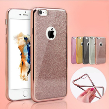 2016 New Arrival Ultra Thin Glitter Bling Cute Crystal Candy Color Soft Gel Silicone TPU Back Case Cover for iPhone 6 6s Plus