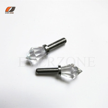 Starry Brightness Optic Fiber Light Crystal End Fittings with Metal Fittings Fiber Optic Star Fittings with Screw(China)