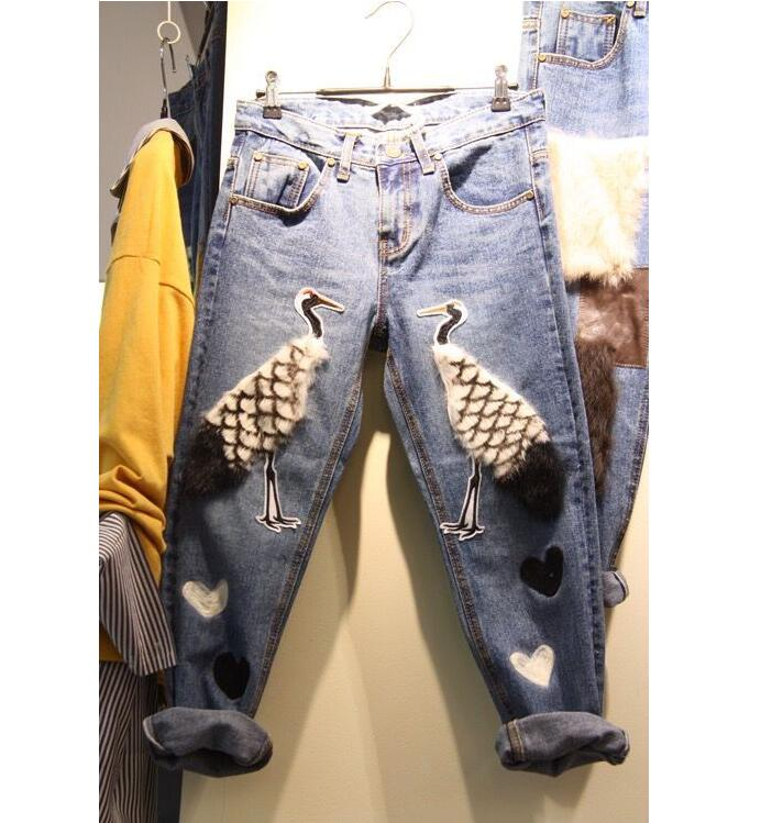 Fashion American Apparel Jeans Boyfriend Fashion Jeans For Women Pantalones Vaqueros Mujer Jeans Femme Jeans With EmbroideryОдежда и ак�е��уары<br><br><br>Aliexpress
