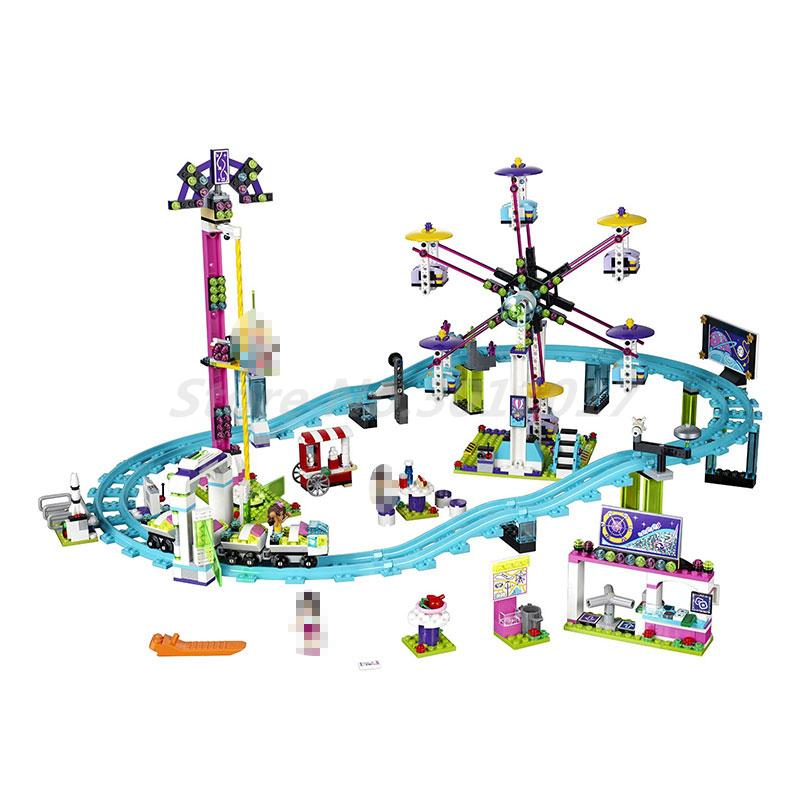 LEPIN 01008 Amusement Park Roller Coast 1124Pcs Mini Bricks Friends Series 3D 41130 Building Blocks Toys For Children Gifts<br>