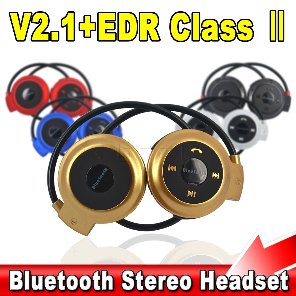 New Mini Sports Neckband Elastic Folded Stereo Wireless Bluetooth 4.0 Headset Earphone Headphones for iPhone for Samsung  for PC<br><br>Aliexpress