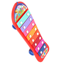 Children's Books drag knock piano small riders infant baby musical toys pull octave Xiaoqin