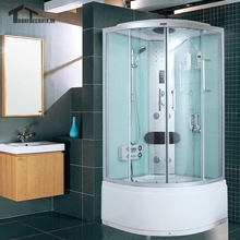 "36"" Shower Cabin Glass Steam Shower Enclosure Cabin douche cabine Cubicle Bath Room  Bathroom Jetted Massage Sauna White 903"