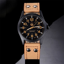 Vintage Classic watch Men Waterproof Date Leather Strap Sport Quartz Army Watch Dropshipping Free Shippingrelogio masculino M29