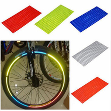 Cycling reflector Fluorescent MTB Bike Bicycle Sticker cycling Wheel Rim Reflective Stickers Decal Accessory reflective sticker