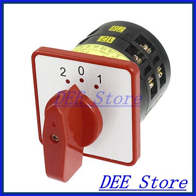 Ui380V Ith 5A 2-0-1 Positions 12 Screw Terminals Changeover Switch<br><br>Aliexpress