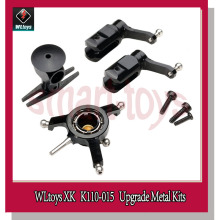 Wltoys XK K110 K120 Upgrade Metal Main Shaft K110-017 Blade Grips K110-018 Swashplate Rotor Head V966 V977 Helicopter Parts