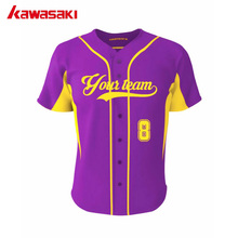 Kawasaki Professional Custom Youth/ Men Baseball Jerseys Training Top 100% Polyester Sublimated Softball Practice jersey