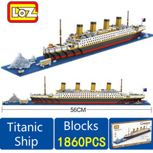Big Size Titanic Ship 1860PCS Building Blocks Toy Titanic Boat 3D Model Educational Gift Toy for Children Compatible With Brand(China)
