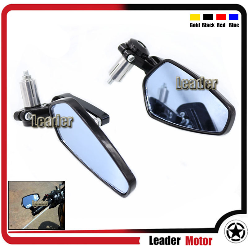Hot Sale Universal Billet Aluminum 7/8 22mm Rearview Mirror Handle Bar End Blue Side Mirror For MV Agusta F4/F3 RSV/1000 Black<br><br>Aliexpress