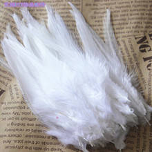wholesale high quality 50pcs Natural Turkey feathers 10-15cm / 4-6inchg various decorative diy white(China)