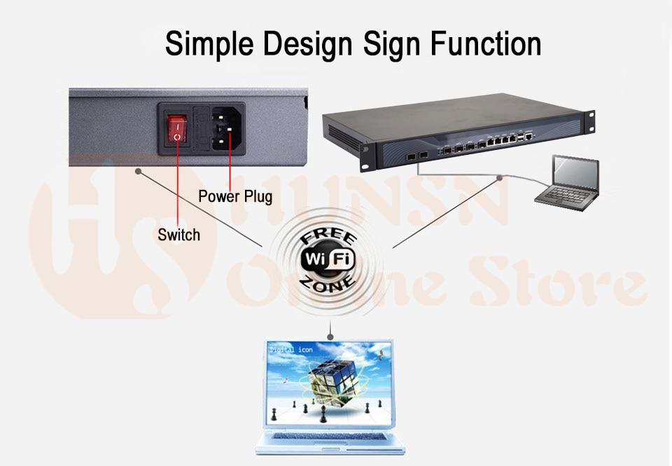 Firewall Mikrotik Pfsense Router PC I3 4160 I5 4430 I7 4770 G3250 HUNSN RS19 (05)