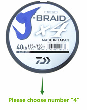 100% Original DAIWA J BRAID X4 Braided fishing line DARK GREEN color 135m Made in Japan(China)