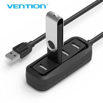Конвенция Высокоскоростной 4 Порта USB 2.0 Концентратор USB HUB портативный OTG HUB Разветвитель USB для Apple Macbook Air Ноутбук PC Tablet