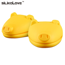SILIKOLOVE 1PC PIG Type Silicone PadOven Mitt High Temperature Resistance Heat Insulation Nonslip Silicone Glove Cooking Baking
