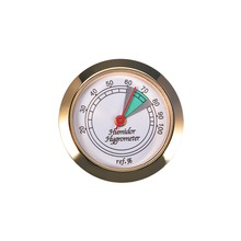 High Quality Cigar Hygrometer with Glass Face And Gold Frame