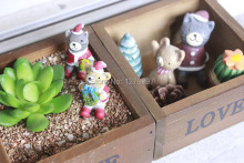 Manufacturers spot grocery retro old wooden box potted succulents mini box office good helper Storage box