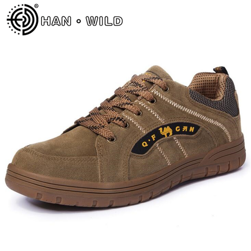 Mens Casual Shoes Genuine Leather Men Shoes Flat Outdoor Breathable Lace-up Men Flats Comfortable Fashion Wear-resistant Shoes<br>