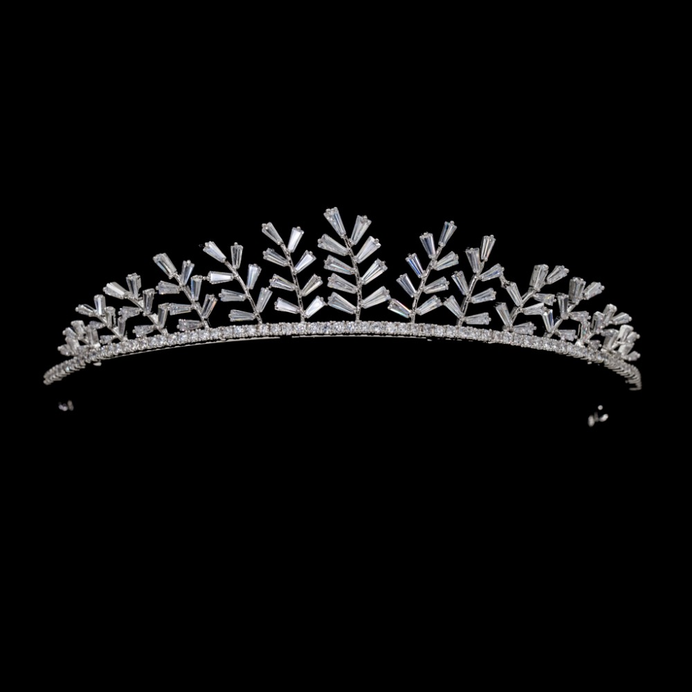 Classic Full 5A CZ Cubic Zirconia Wedding Bride Tiara Crown Girl Hair Jewelry Accessories Rhinestone Crystals Tiaras HG0074