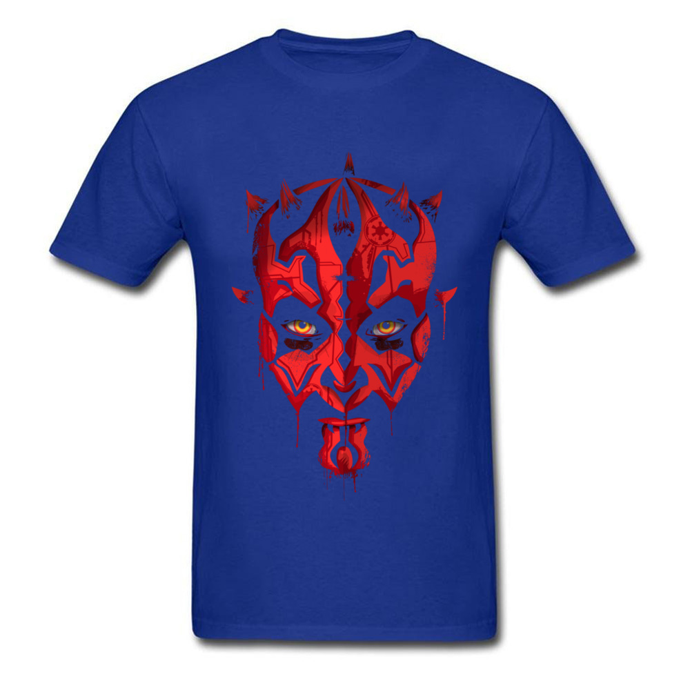 Darth Maul Emerges Summer 100% Cotton Round Neck Tees Short Sleeve Design Clothing Shirt Rife Unique Top T-shirts Darth Maul Emerges blue