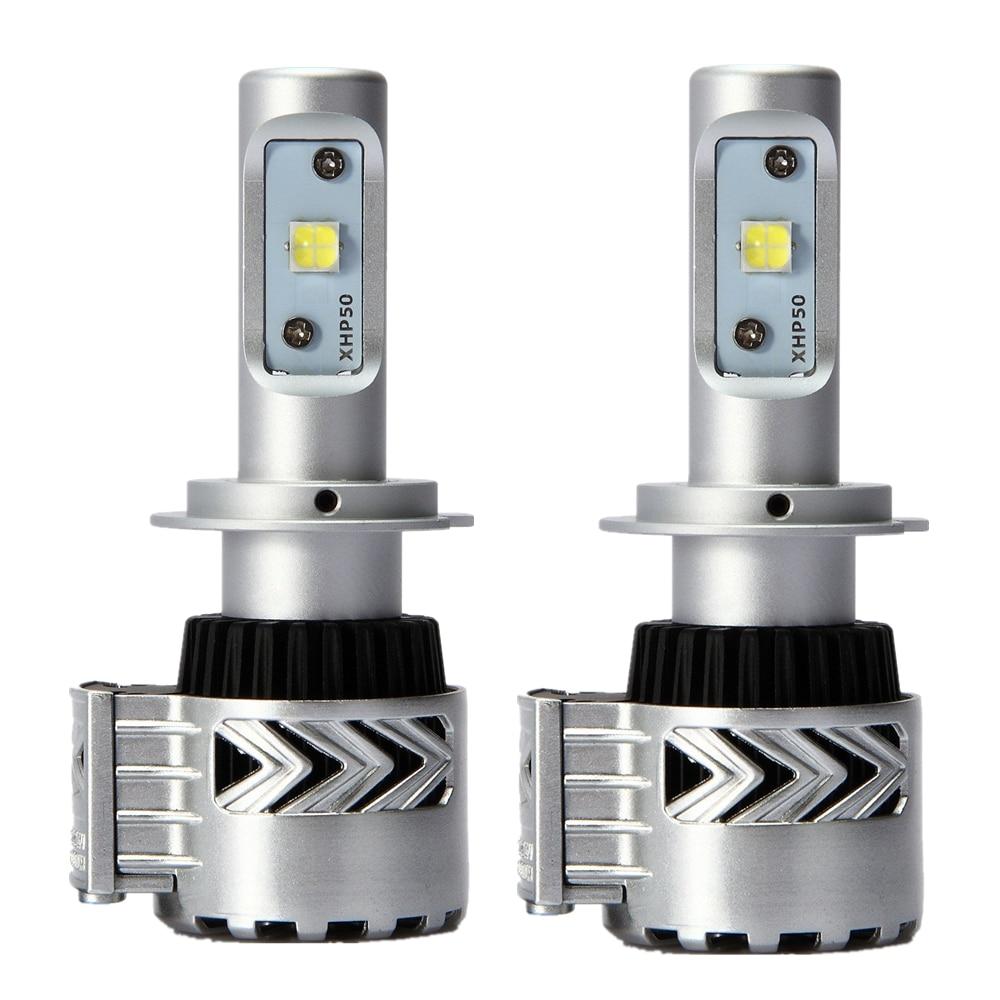 2xSuper Bright H7 LED Car Headlight Conversion Kit 72W Fog Running Lamp Automobile LED Headlamps For Auto Car LED Headlight Bulb<br>