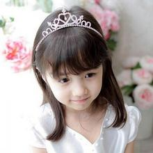 1PC Popular Fashion Girls Princess Christmas Party Bridal Crown Crystal Diamond Tiara Hair Hoop Headband Hairband Hot(China)