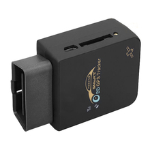OBDII GPS Tracker OBD2 Tracking GSM/GPRS Car Vehicle With IOS Android app Black(China)