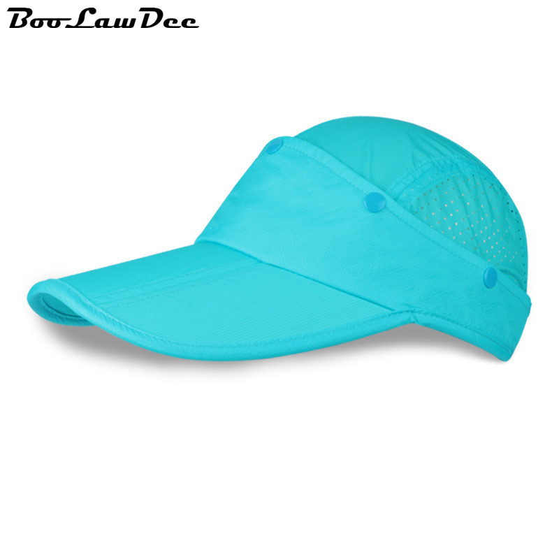 BooLawDee Summer fashion leisure dual removable empty top hat unisex baseball cap quick-drying sunscreen elastic band 4F029<br><br>Aliexpress