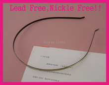 10PCS Brush Bronze 3mm Plain Metal Headbands with bend ends at lead free and nickle free,BARGAIN for BULK