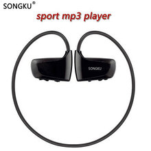 SONGKU W262 8GB 16GB Mp3 Player Sports MP3 Music Player Walkman Earphone Headphone Running Mp3 Player PK WS413 WS615(China)