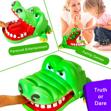 one piece Large Fun Toys Trick Crocodile Dentist Toy Bite Finger Game Funny Novetly Crocodile Toys for Children Kids Gift boys