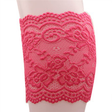 New Fashion Sexy Women Stretch Lace Boot Cuffs Women Girls Leg Warmers Trim Flower Pattern Design Boot Socks Knee Accessories