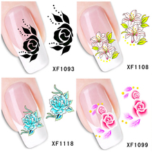 30 Styles! Fashion Nails Art Manicure Decals Florals Design Water Transfer Stickers For Nails Tips Beauty#BXF1091~BXF1120(China)