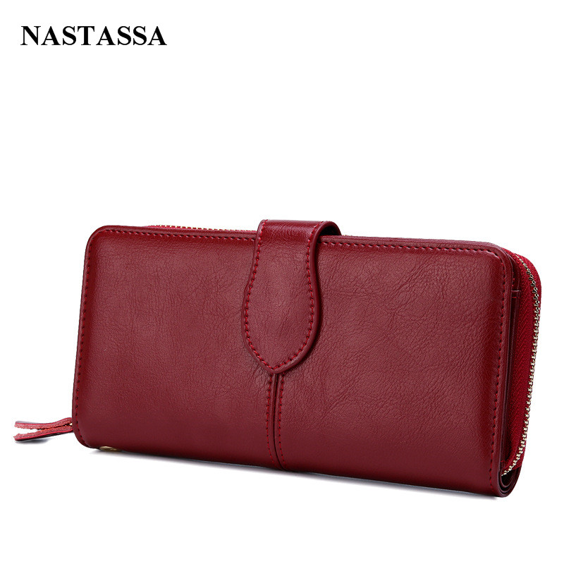 Vintage Clutches Purse Genuine Leather Womens Wallets Zipper Coin Purse Day Cluthes Bags<br><br>Aliexpress