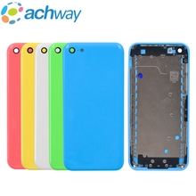 Full Housing Middle Frame For iPhone 5C Back Battery Cover Rear Door Housing Case Middle Chassis For iPhone 5C Rear Housing(China)