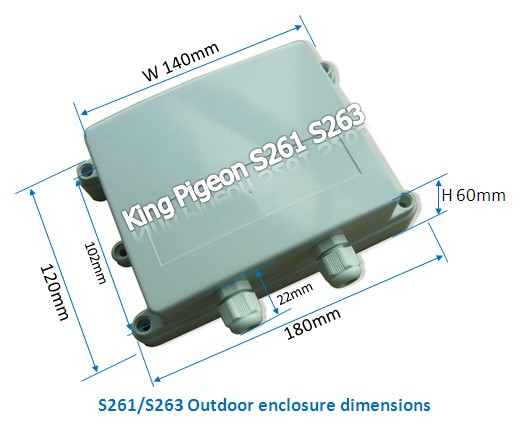 Outdoor enclosure for GSM GPRS GPS logger