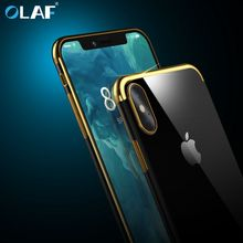 Olaf Soft TPU Phone Case for iPhone 6S 6 Plus iPhone 7 7 Plus Bumper Cover For iPhone 8 8 Plus iPhone X Transparent Fundas Coque(China)