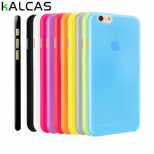 KALCAS Scrub Colorful Case For Iphone 6 6S 6S Plus 6S Plus 7 7 PlusTransparent Soft Plastic Cases For Iphone 4 5 5S SE 5C Cover